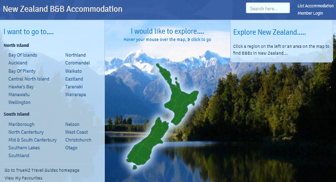 New Zealand regions - the South Island